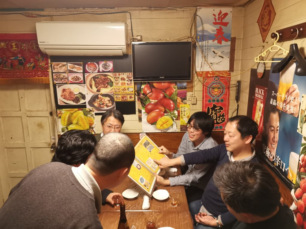 Men ordering food at Taiwanese place in Thank God for good food in Omoide no Nukemichi