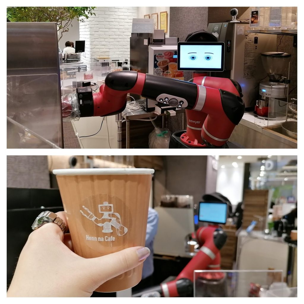 Sawyer the robot at Hen na Cafe