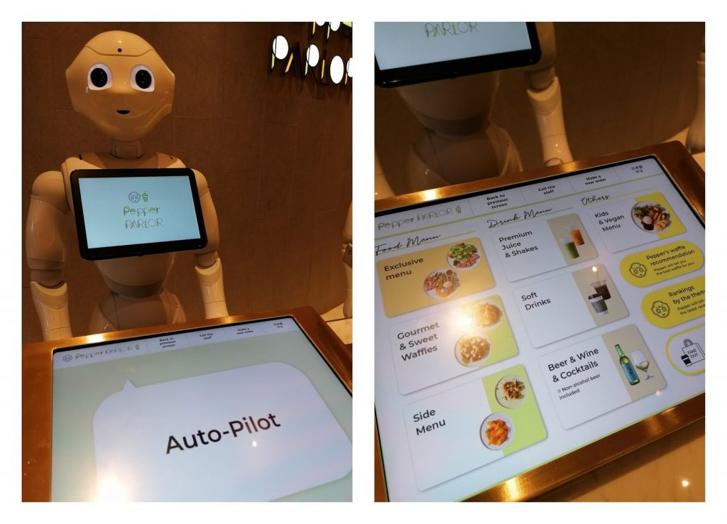 Pepper analyses your facial expression and makes a menu recommendation