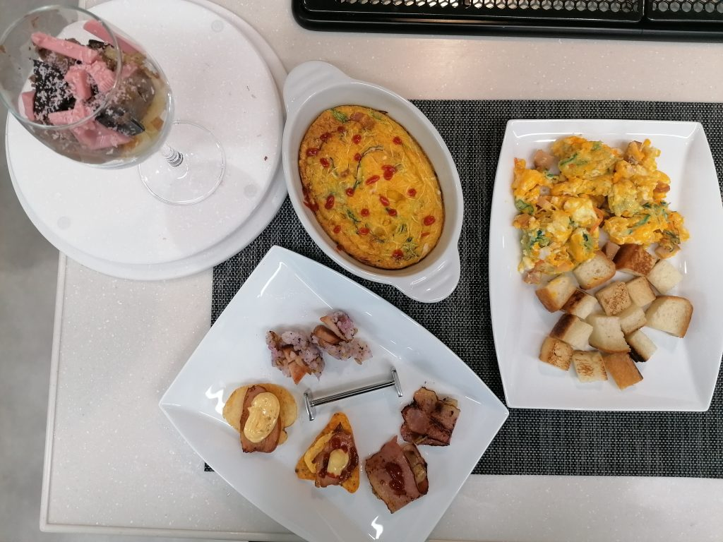 Zoria's party food-themed dishes
