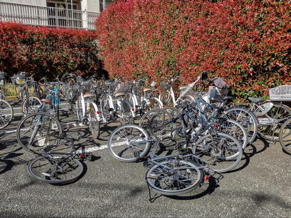 the state of the bike parking area