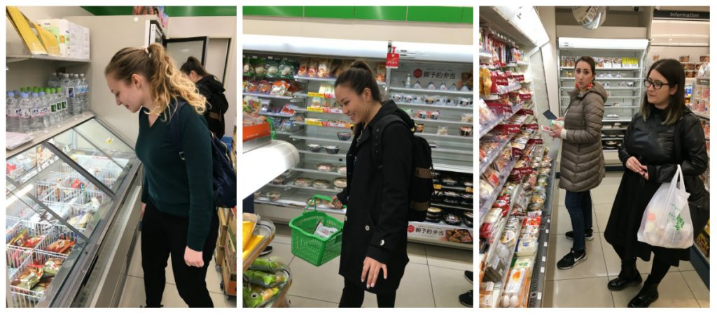 Shopping for ingredients with the 2,000 yen budget