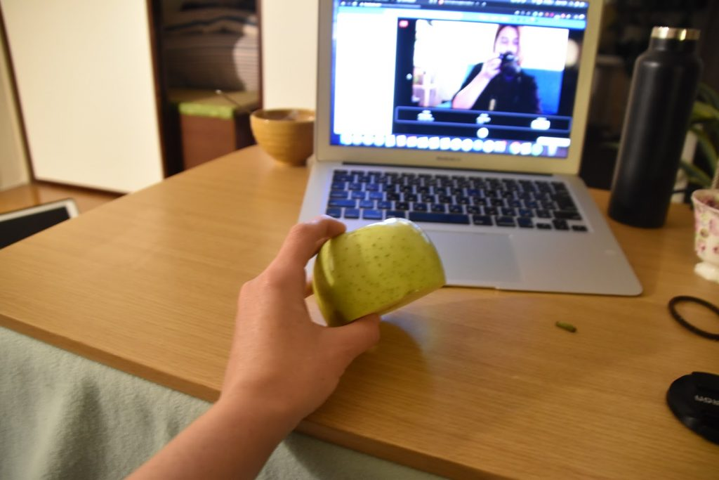 pulling an apple apart with my bare hands (or trying)