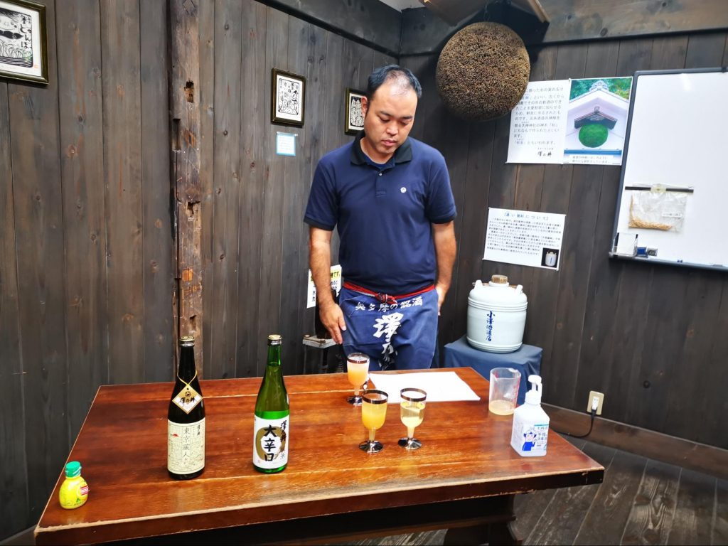 Sawanoi sake brewery judge gives his comments