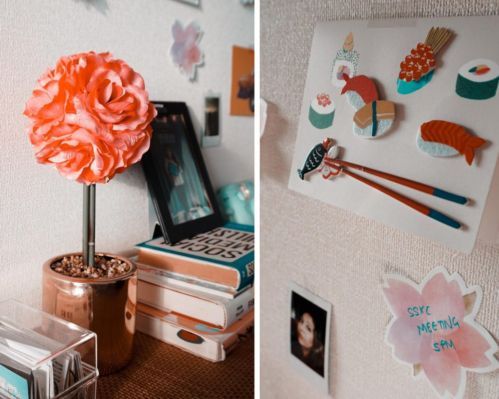 other personal touches from around the house completes the perfect workspace look