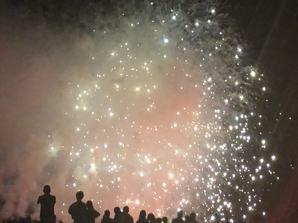 Fireworks at a festival before covid