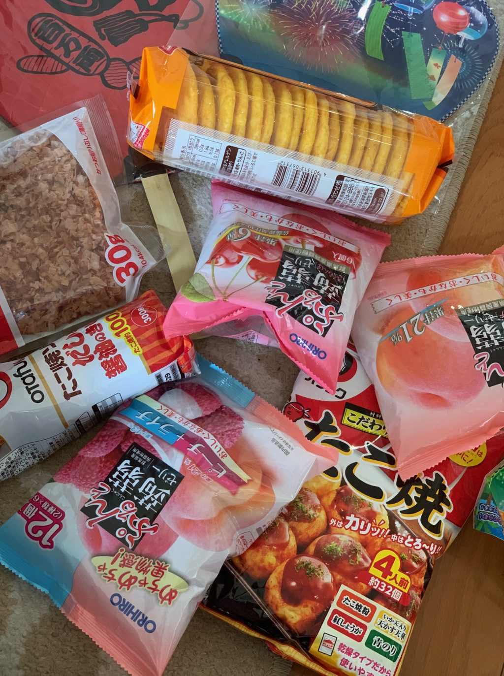 ingredients for our Natsu matsuri festival dishes