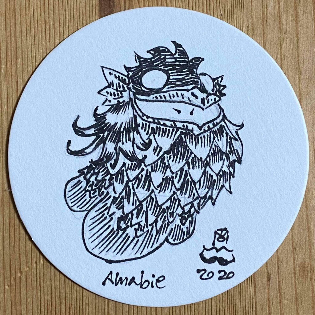challenge other artists to draw Amabie